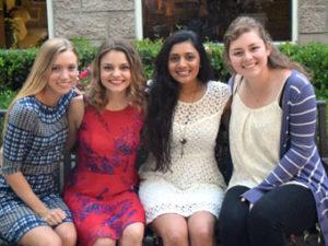 2016 MVAC SCHOLARSHIP RECIPIENTS Erin Doolin, Aslisha Nagarka, Marian Kirkham, Anna Hatton
