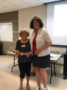 Anna Boyce was recognized for more than 20 years of community service. Linda Robinson presented her with a gold badge.
